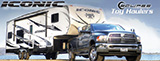 Eclipse RV Inc.: ICONIC Toy Hauler 5th Wheels  http://www.eclipservmfg.com/Iconic